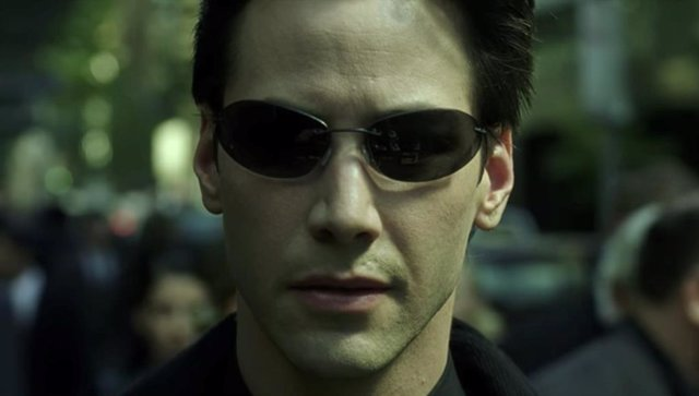 Keanu Reeves como Neo en Matrix