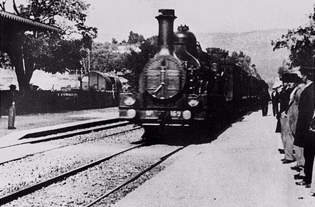 La llegada del tren a la estación de Ciotat, de los hermanos Lumière
