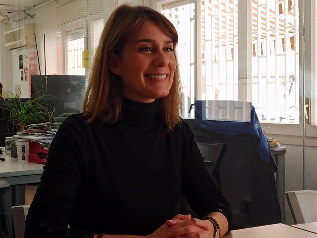 Jéssica Albiach (comuns) en una entrevista d'Europa Press.