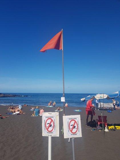 Cierran al baño Playa Grande, en Puerto de la Cruz (Tenerife)