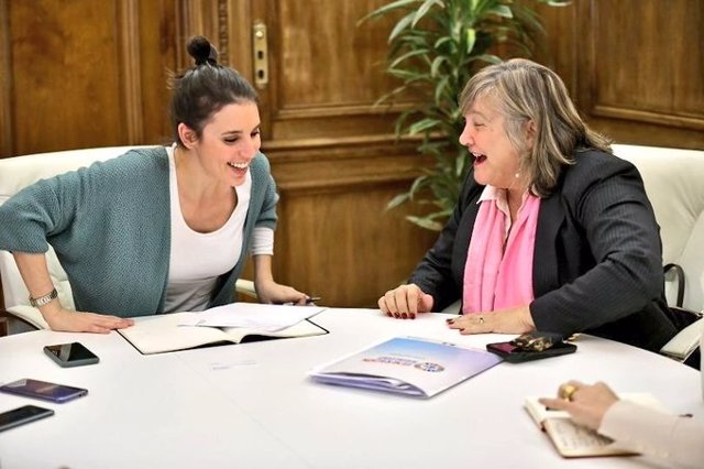Irene Montero habla con ONU Mujeres para América Latina sobre el avance del femi