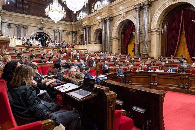Vista general d'una sessió plenària del Parlament de Catalunya, Barcelona (Espanya), 5 de febrer del 2020.