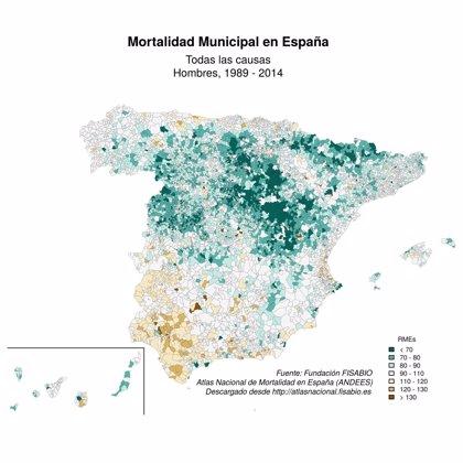 Investigadores de Fisabio desarrollan un atlas interactivo que recoge las causas de mortalidad en España