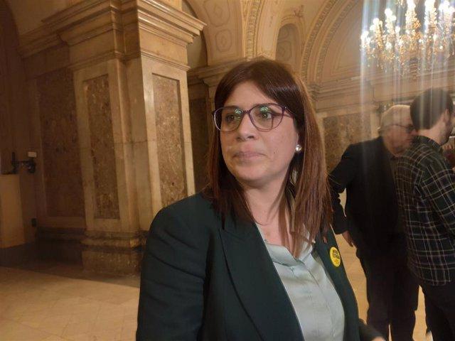 La portavoz adjunta de JxCat en el Parlament, Gemma Geis.