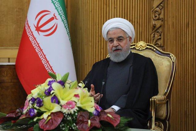 Irán.- Irán expone por primera vez los restos del dron de EEUU derribado en 2019