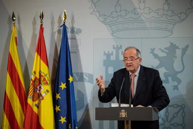 El presidente de Pimec Josep González declara tras su reunión con el Presidente del Gobierno Pedro Sánchez en la Delegación del Gobierno en Barcelona, a 6 de febrero de 2020