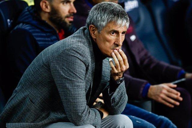 El entrenador del Bara Quique Setién