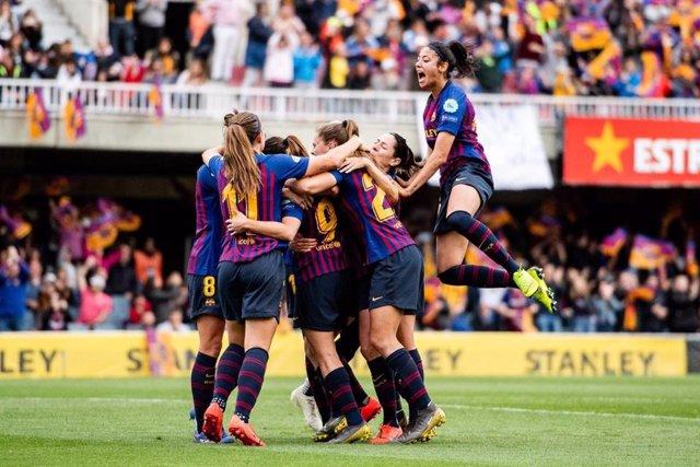 El Barça femení en una foto d'arxiu.