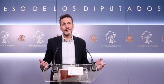 El diputat de Ciutadans, Edmundo Bal, atén els mitjans de comunicació