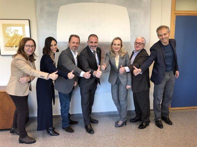 De izq a dcha: Carmina Gil, Eva Sebastián, José María Sempere, José Millet, Gemma Palacios, Ignacio Fernández y César Ferri
