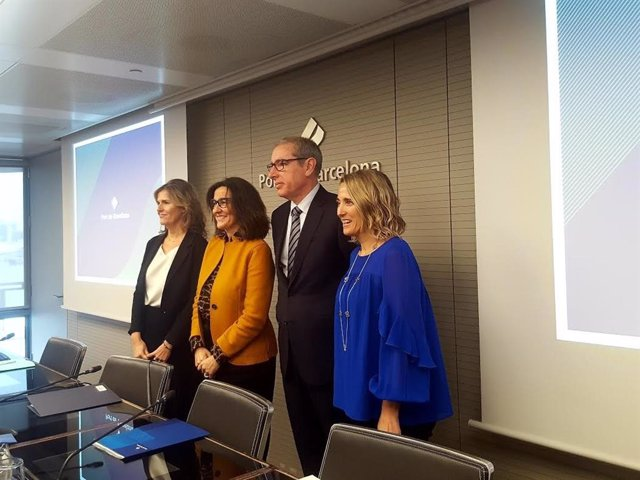 Miriam Alaminos, Mercè Conesa, José Alberto Carbonell i Núria Burguera (Port de Barcelona)