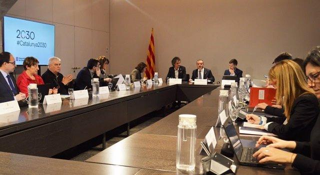 Reunió interdepartamental del Govern sobre l'Agenda 2030.