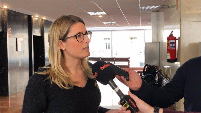 La presidenta del grup municipal de JxCat a l'Ajuntament de Barcelona, Elsa Artadi.