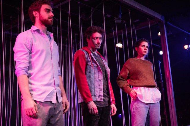 Javier Amann, Mariano Estudillo y Nakarey, el elenco que protagoniza 'Wasted', dirigida por Marían San Miguel.