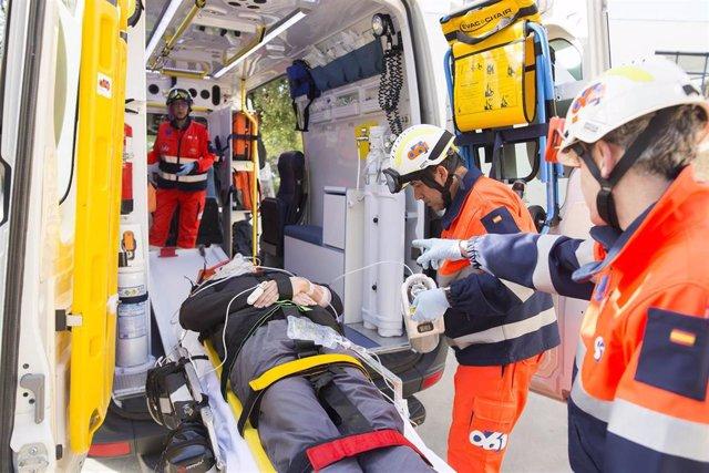 Un equipo de EPES 061 durante una asistencia