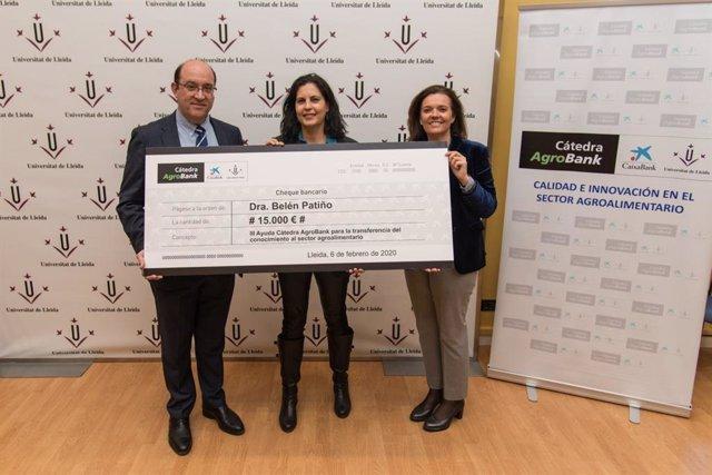 Entrega del premio de la Cátedra AgroBank de la UdL