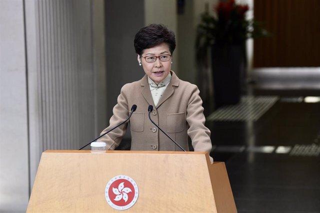 La jefa de Gobierno de Hong Kong, Carrie Lam.