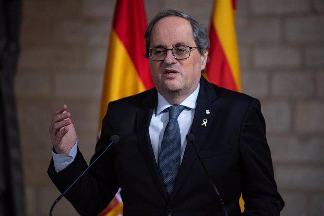 El president de la Generalitat, Quim Torra, en una imagen de archivo.