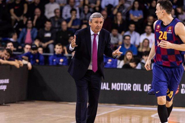 Svetislav Pesic, entrenador del Barça.