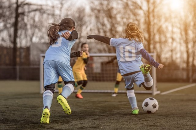 Ejercicio niños, fútbol