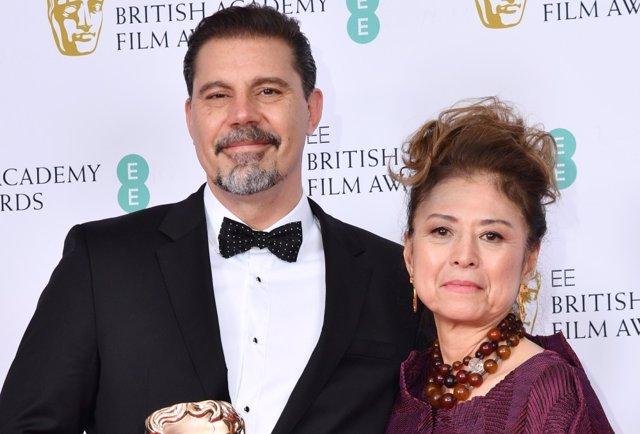 Sergio Pablos junto a Jinko Gotoh durante la Gala de los Bafta