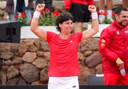 Carla Suárez sella el billete de España para la Fase Final de la Copa Federación