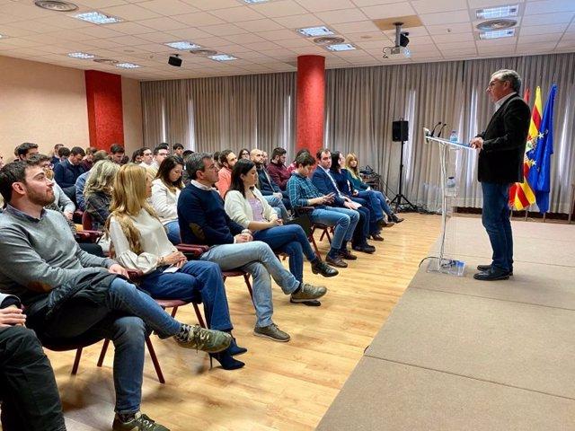 Luis María Beamonte en la inauguración de la VI Escuela de Invierno 'Manuel Giménez Abad' en Jaca