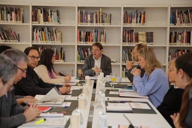 El Consell reunido en el Seminari de Govern d'Hivern de 2020