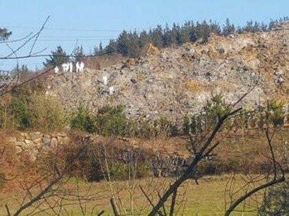 Suspendidas las labores de búsqueda en el desprendimiento de Zaldibar por la inestabilidad del terreno