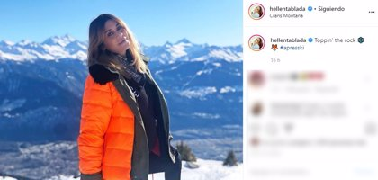Elena Tablada, de escapada en la nieve en Crans Montana