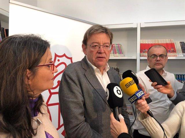 Puig atiende a los medios en el Seminario de Govern