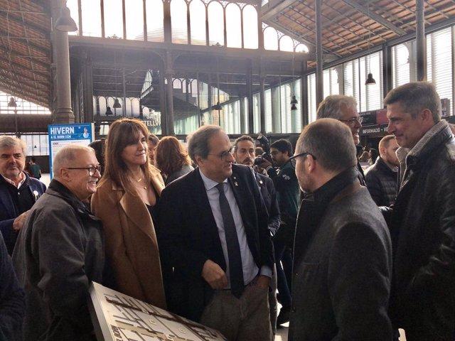 La portaveu de JxCat al Congrés i el president de la Generalitat, Quim Torra