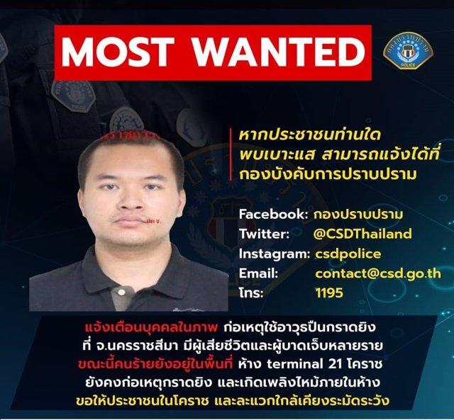 Jakkrapanth Thomma, presunto asaltante del centro comercial Terminal 21