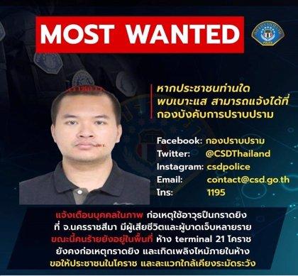 Un militar tailandés mantiene a 16 rehenes en un centro comercial tras matar a 17 personas