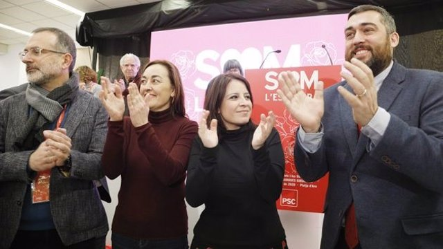 La portavoz del PSOE en el Congreso y vicesecretaria general del partido, Adriana Lastra, en el congreso del PSC en Girona.