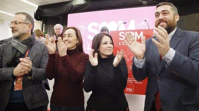 La portaveu del PSOE al Congrés i sotssecretària general del partit, Adriana Lastra, al congrés del PSC a Girona.