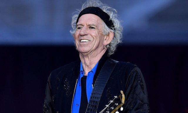 Keith Richards en pleno concierto de los Rolling Stones