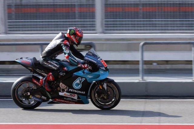 El piloto de MotoGP Fabio Quartararo (Petronas Yamaha) en los test de Sepang (Malasia) de 2020