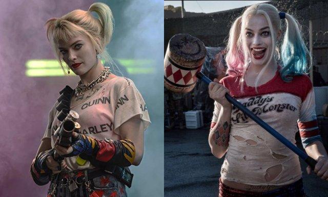 Margot Robbie como Harley Quinn en Aves de Presa y Escuadrón Suicida