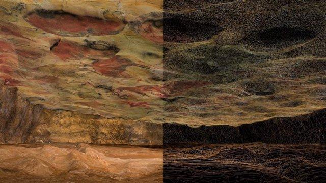 Recreación virtual de la cueva de Altamira