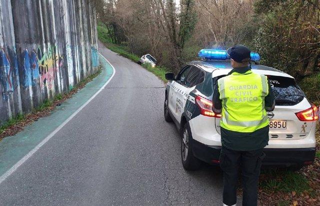 Un vecino de Mos (Pontevedra), investigado tras salirse de la vía y dar que quintuplicaba la tasa de alcohol permitida