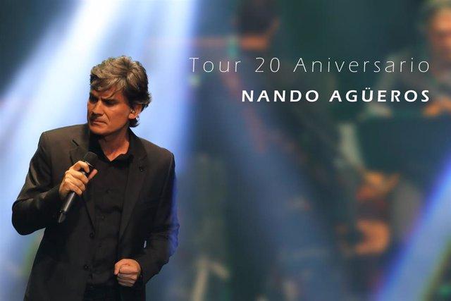 Cartel del tour aniversario de Nando Agüeros