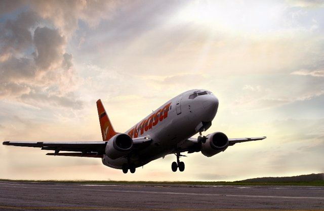 Imagen de un avión de Conviasa.