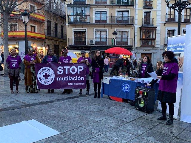 Nuria Cogolludo en el acto contra la mutilación genital femenina.