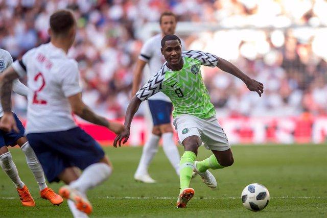 Odion Ighalo con la selección de Nigeria