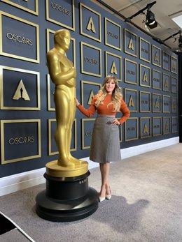 Gisela en el hotel Lowest de Los Angeles (Estados Unidos) el 8 de febrero de 2020, un día antes de su actuación en la gala de los premios Oscar de Hollywood