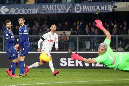 La Juventus tropieza en Verona pese a otro gol de Cristiano