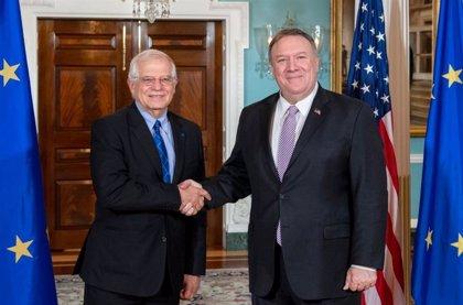 UE/EEUU.- Borrell reitera ante Pompeo la importancia de las relaciones entre EEUU y la UE a pesar de los desencuentros