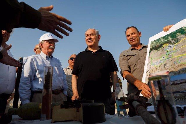 El primer ministro de Israel, Benjamin Netanyahu, visita el valle del Jordán
