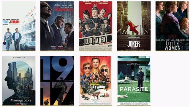 Carteles de las películas nominadas a los Oscar 2020